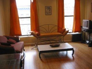 Modern, Sunny, Two-Bedroom Full-Floor Apartment in Historic Harlem Brownstone