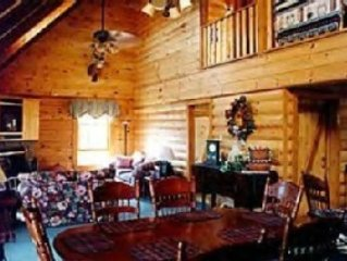 A Luxurious, Authentic Log Cabin Located 4,000' High in the Smokies