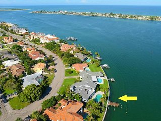 Pass-a-Grille Channel View House w/Dock near St Pete Beach and Fort de Soto Park