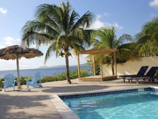 Luxury ocean front villa Bonaire with private pool and own dive reef