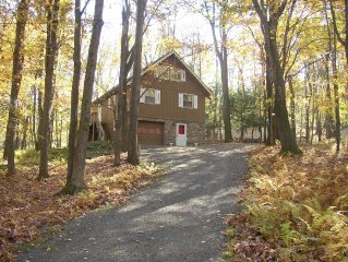 Special - Beautiful Mountain side Chalet in the Woods, 1 block from Locust Lake