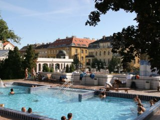 Budapest apartment on Gellert Hill, right next to the Gellert Baths