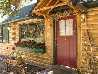 Enchanting  & private  4 Bdr log cabin on 1 Acre Wooded  lot withWiFi