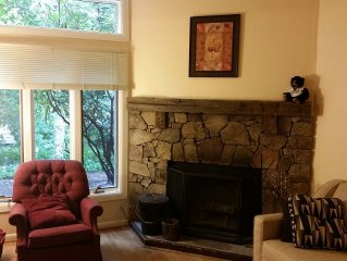 1 BR condo w/ internet sleeps 4.  Only 2 min walk to top of Mt.