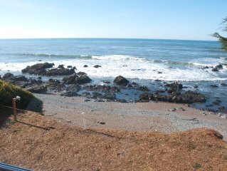 Listen to crashing waves in oceanfront property