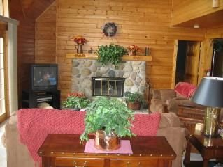 Beautiful Log Home on West Grand Traverse Bay