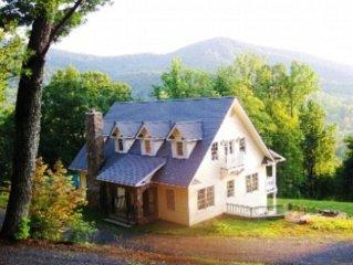 Stunning mountain views in pristine, serene, natural setting. Luxurious comfort.