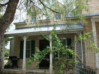 Classic Fredericksburg, 2-story rock Sunday Haus