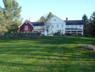 Well appointed 21st c Greek Revival Farmhouse, Breathtaking Views and Privacy