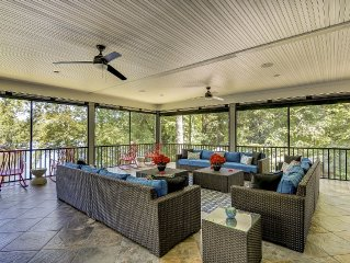 Expansive new custom lake front home with pool & dock