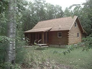 Secluded Log Cabin on Sheepscot Pond