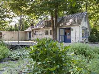 NEW! Herb Cottage: Historic Artist's Cottage, Wood Stove, Walk to Town!