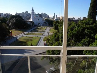 Charming Balcony Apartment Overlooking Recoleta Park