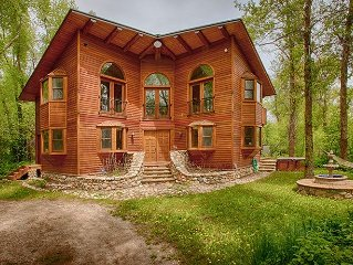 Luxury on Teton Creek w/ Jacuzzi. Great Tranquil Location!