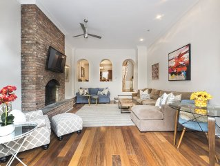 3500sf/Sleeps 14/Townhouse/Midtown East/3 Living Areas/Private Garden