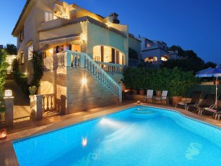 Family Holiday villa with private pool in front the sea in Alcudia, Aucanada