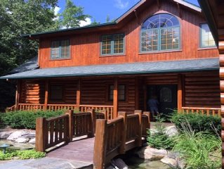 Magnificent Log Home On Mullett Lake's East Shore ~ Fantastic Views!