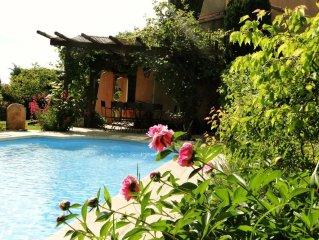 La Fenouillere, le charme provencal a 10 km d'Aix, vue Sainte Victoire, piscine