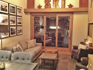 Newly Refurbished, Ski in / Ski Out, 3.5 bed Duplex Apartment, Label Meribel