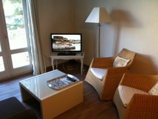 appartement dans residence acces direct mer