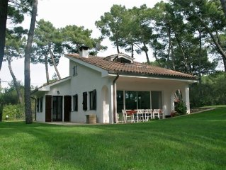Luxury villa with beautiful garden in nature reserve on a 10km beach