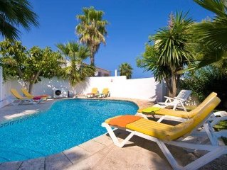 Family-friendly Villa in Menorca with gorgeous sea views, and spacious garden