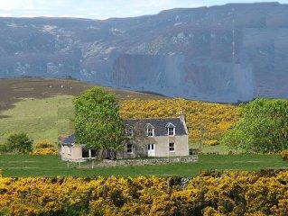 Stunning Highland retreat in peaceful glen near Dornoch (sleeps 5)
