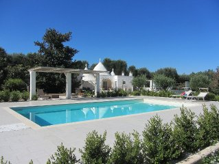 Beautiful Trullo with Salt Water Pool nestled in its own Olive Grove and Gardens