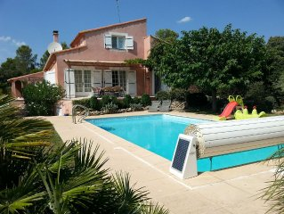 Villa with Private Heated Pool (mid-May - mid October) in Medieval Village