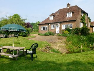 Peaceful, rural setting surrounded by 30 acres of  grounds with woodland & ponds