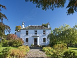 Rosebank House, Georgian, perfect for family house parties, Blairgowrie