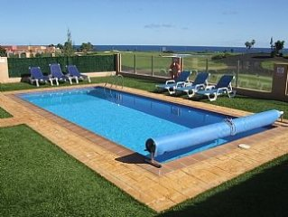Luxuary AirConditioned Villa With Private Heated Pool, Golf Course And Sea Views