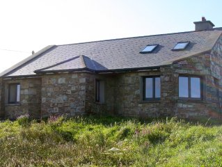 Delightful detached stone house on 5 acres beside Aughrus beach, panoramic views