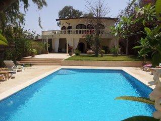 splendide villa avec piscine et vue sur mer - acces direct privea la plage