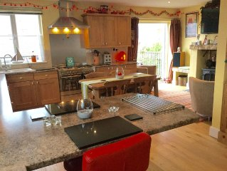 OUR LOVELY HOME WITH KITCHEN BALCONY WITH VIEWS OVER SWANAGE BAY/PURBECK  HILLS