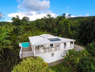 Villa D'île en île: une vue sur mer exceptionnelle dans un havre de verdure.