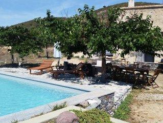 Location de charme avec piscine chauffée  aux portes de la Balagne