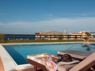 Stunning villa with private pool, sea & mountain view, 3 Bedrooms, BBQ, Wifi (E)