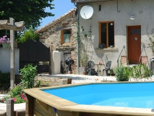 2 bedroomed family friendly Gite With Swimming Pool In The Heart Of Rural France