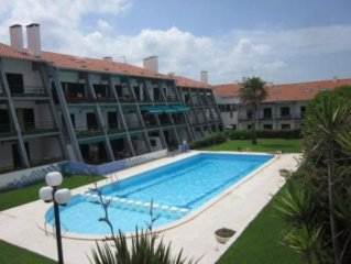 Closed Building Residential flat-with garden and pool ideal for parents with sm