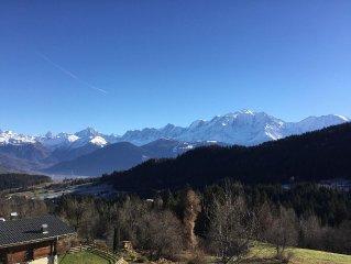 Authentique, Appartement entièrement rénové, vue unique sur chaîne du Mont Blanc