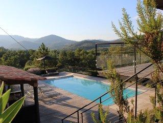Grande maison sur 1 hectare 10 pers avec piscine chauffee Grimaud-Cogolin