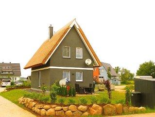 Ferienhaus direkt am Wasser, 2 SZ, Sauna & Kamin, WLAN inkl. - Haustiere willk.