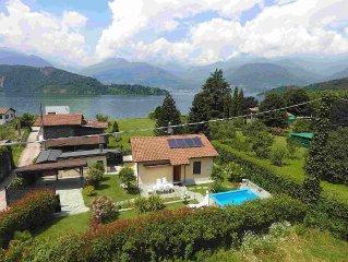 Haus am See mit solarbeheiztem Pool, Seeblick, Garten, Kamin (Bootsliegeplatz)