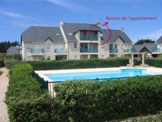 Appartement 2 pieces, 2ieme etage avec vue sur la piscine