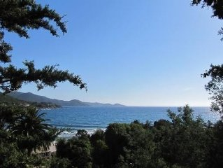 Villa bord de mer, Porticcio rive sud Ajaccio climatisée, jardin et parking priv