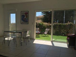 Joli T3, jardin 80², à 20m de la plage, lit et chaise bébé, 2 parkings LE RÊVE !