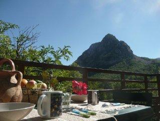 GITE-STUDIO Vacances au Coeur GORGES du VERDON  vue panoramique 4-5 pers