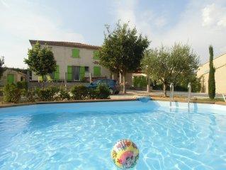 Villa au ceour de la Provence, 5 personnes, ideale pour des vacances en famille