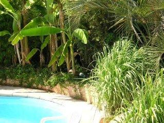 Villa bord de mer avec piscine, 6 personnes, soigneusement decoree, climatisee